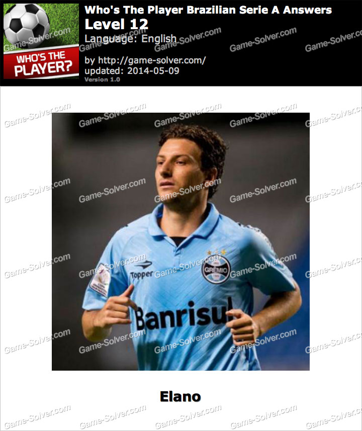 Who's The Player Brazilian Serie A Level 12