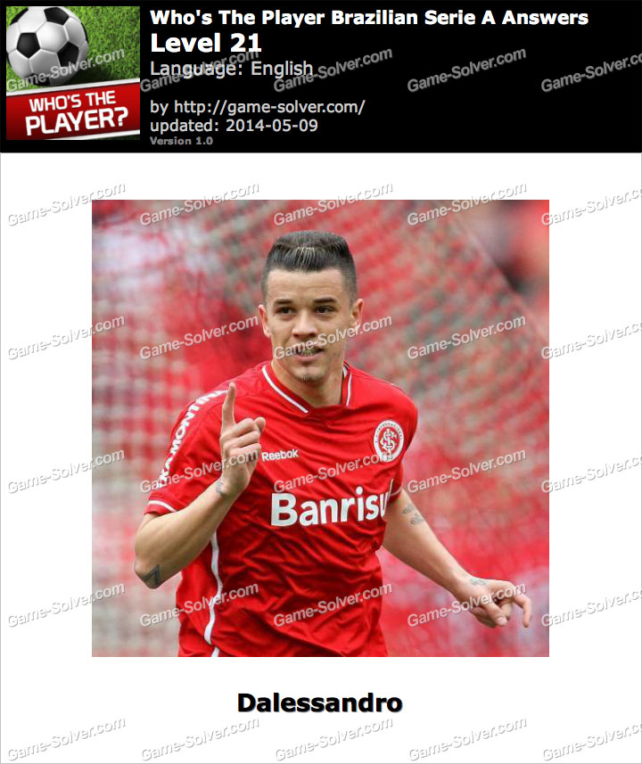 Who's The Player Brazilian Serie A Level 21