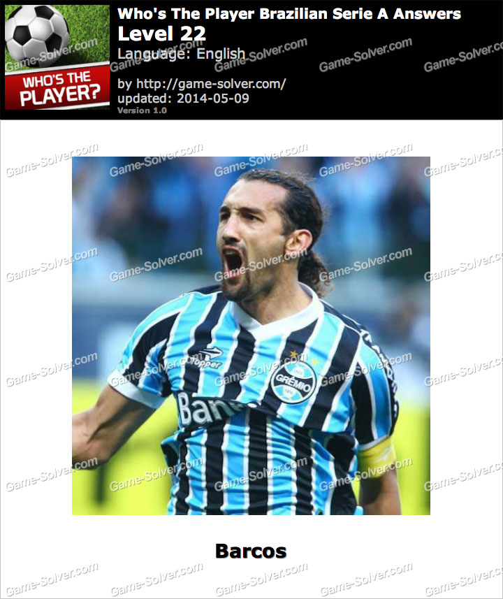 Who's The Player Brazilian Serie A Level 22