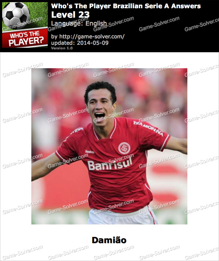 Who's The Player Brazilian Serie A Level 23