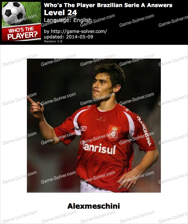 Who's The Player Brazilian Serie A Level 24