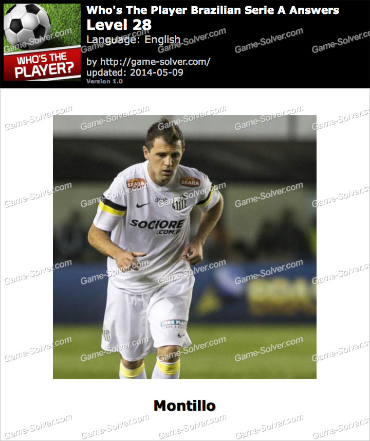 Who's The Player Brazilian Serie A Level 28