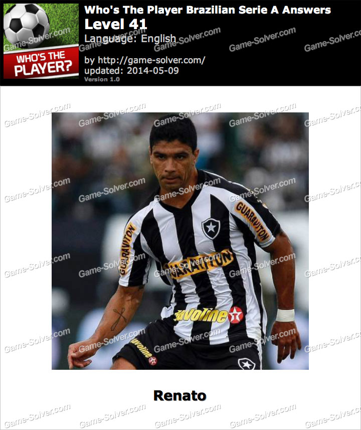 Who's The Player Brazilian Serie A Level 41