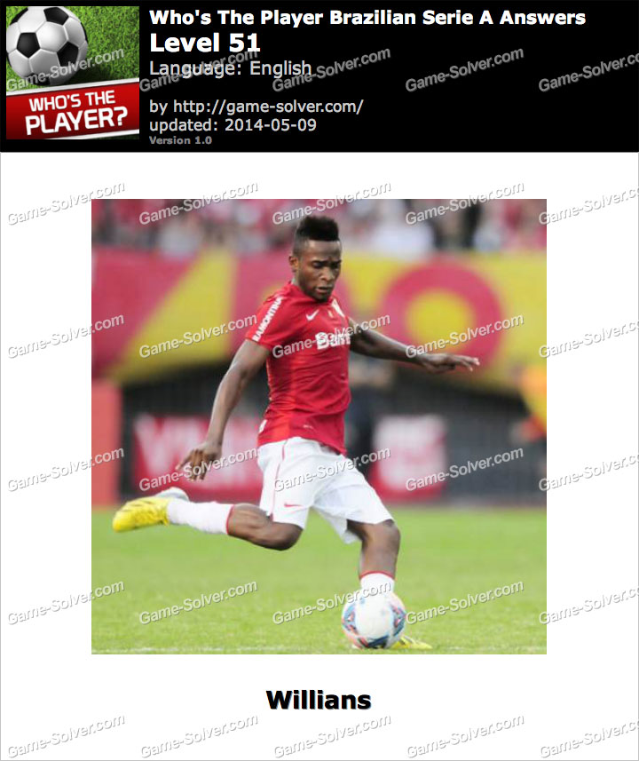 Who's The Player Brazilian Serie A Level 51