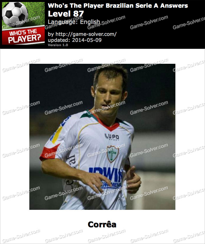 Who's The Player Brazilian Serie A Level 87