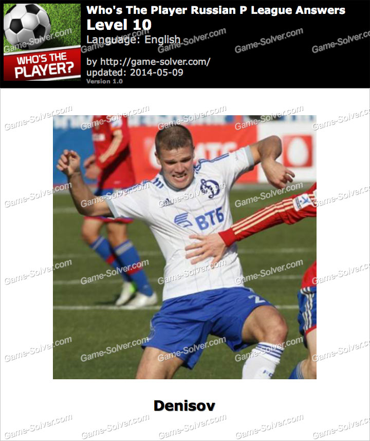 Who's The Player Russian P League Level 10