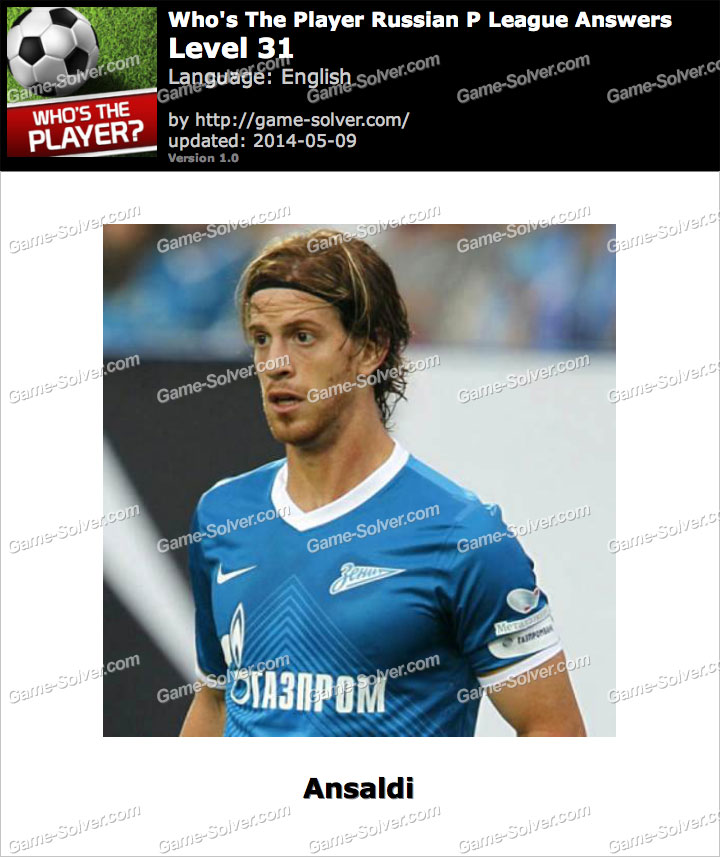 Who's The Player Russian P League Level 31