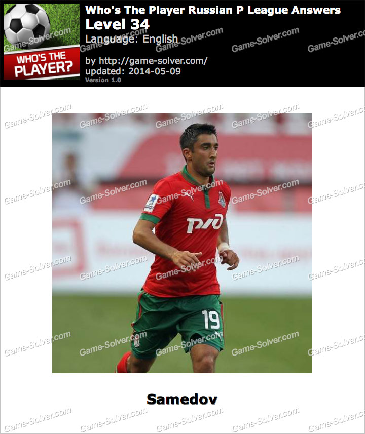 Who's The Player Russian P League Level 34