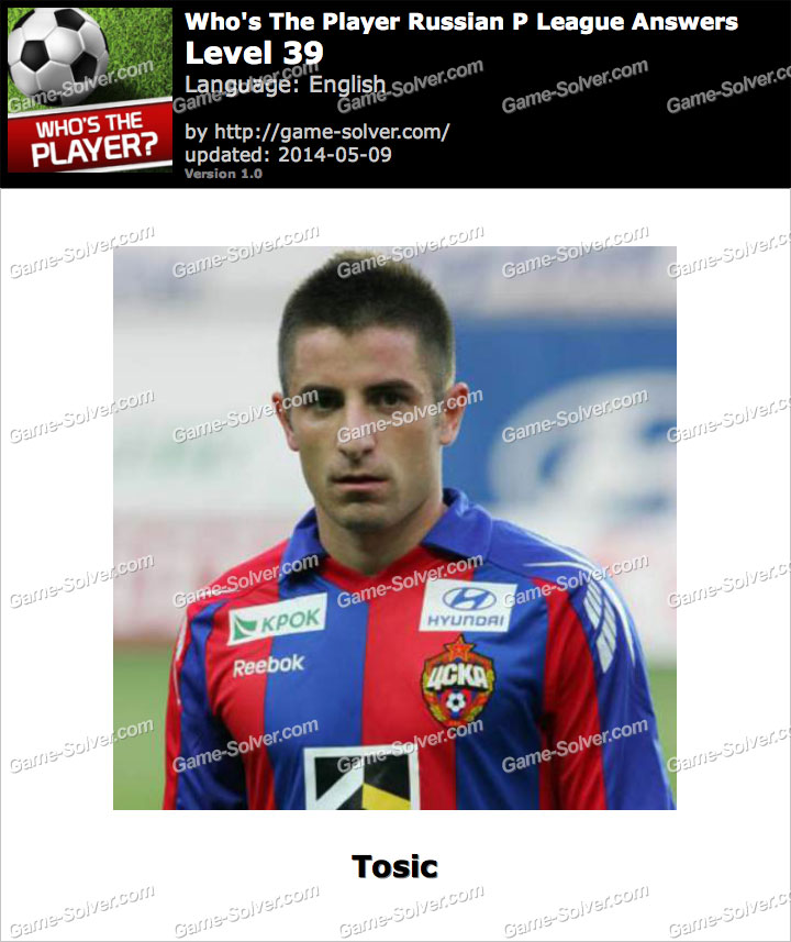 Who's The Player Russian P League Level 39