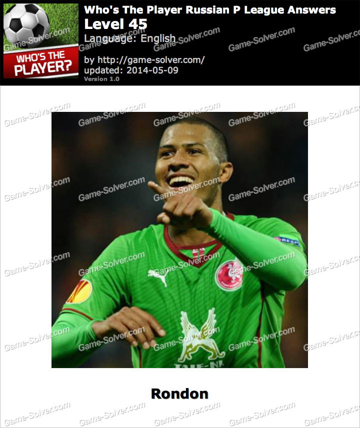 Who's The Player Russian P League Level 45