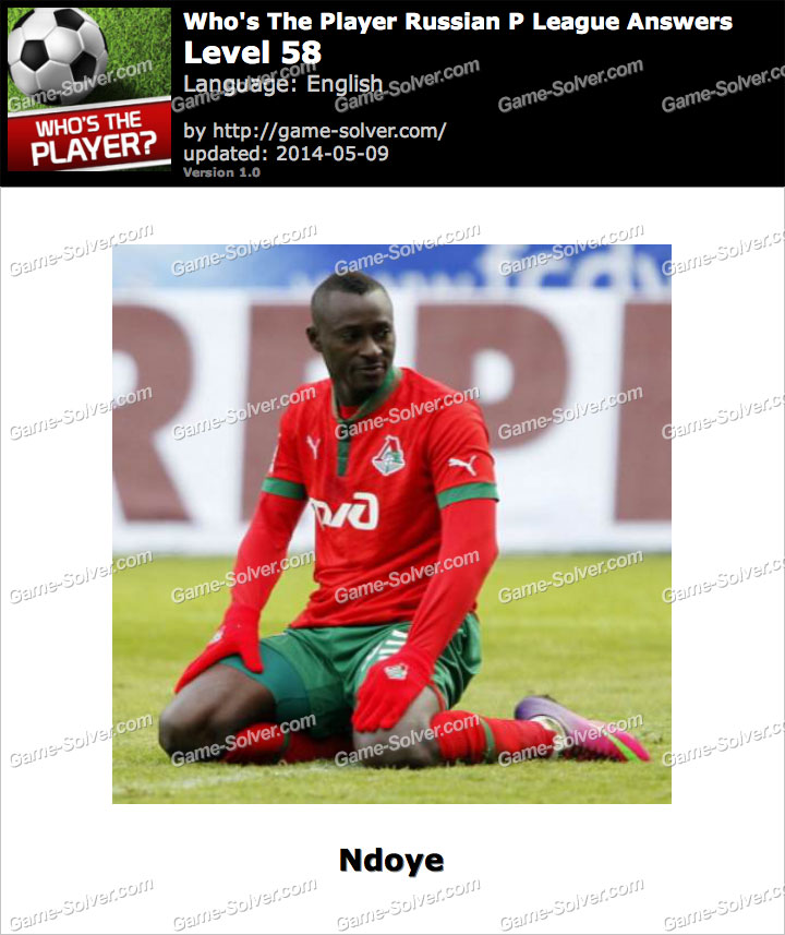 Who's The Player Russian P League Level 58