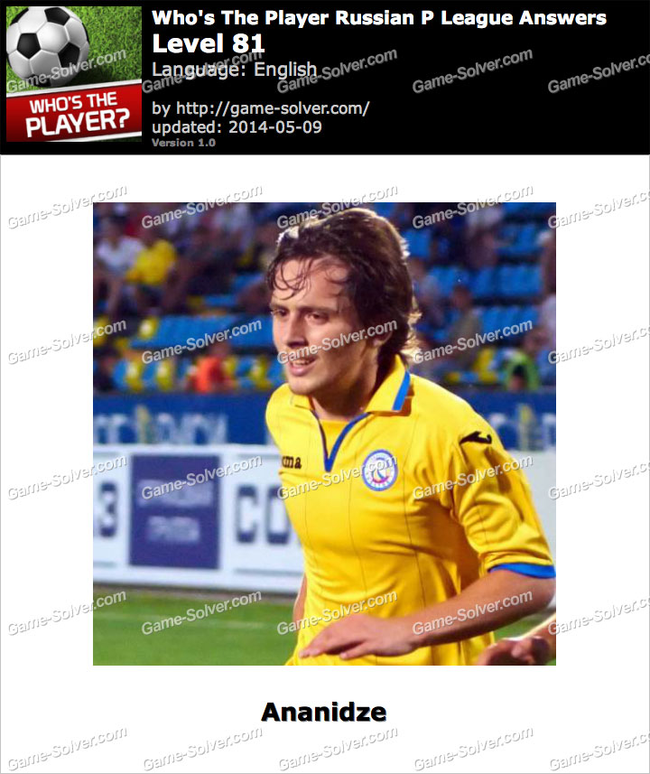 Who's The Player Russian P League Level 81
