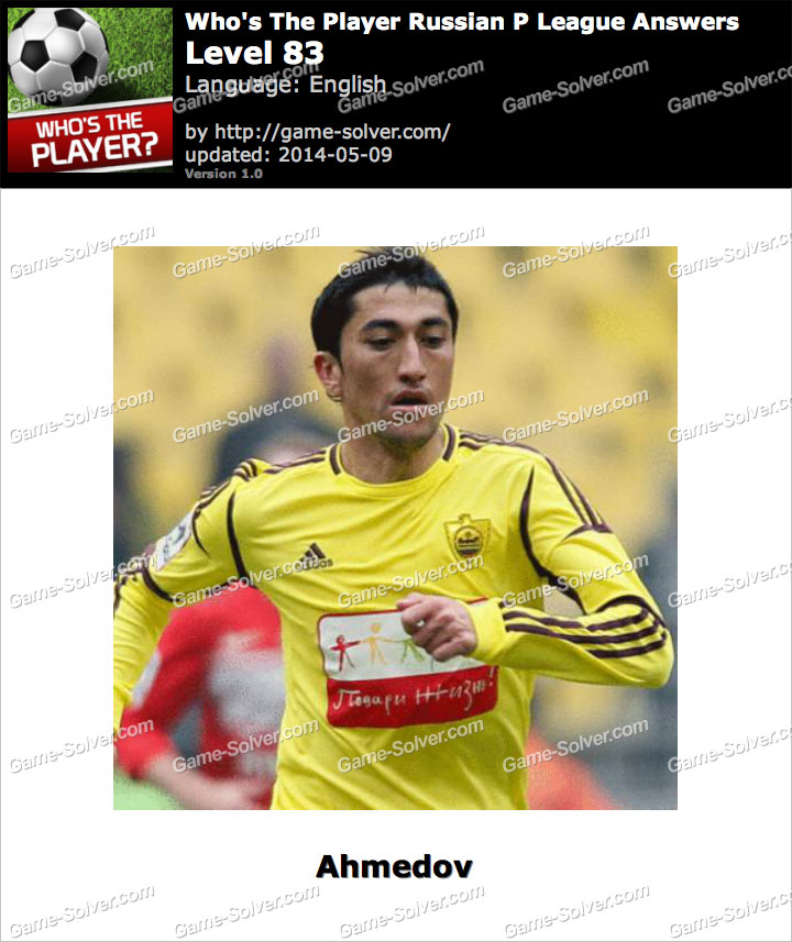 Who's The Player Russian P League Level 83