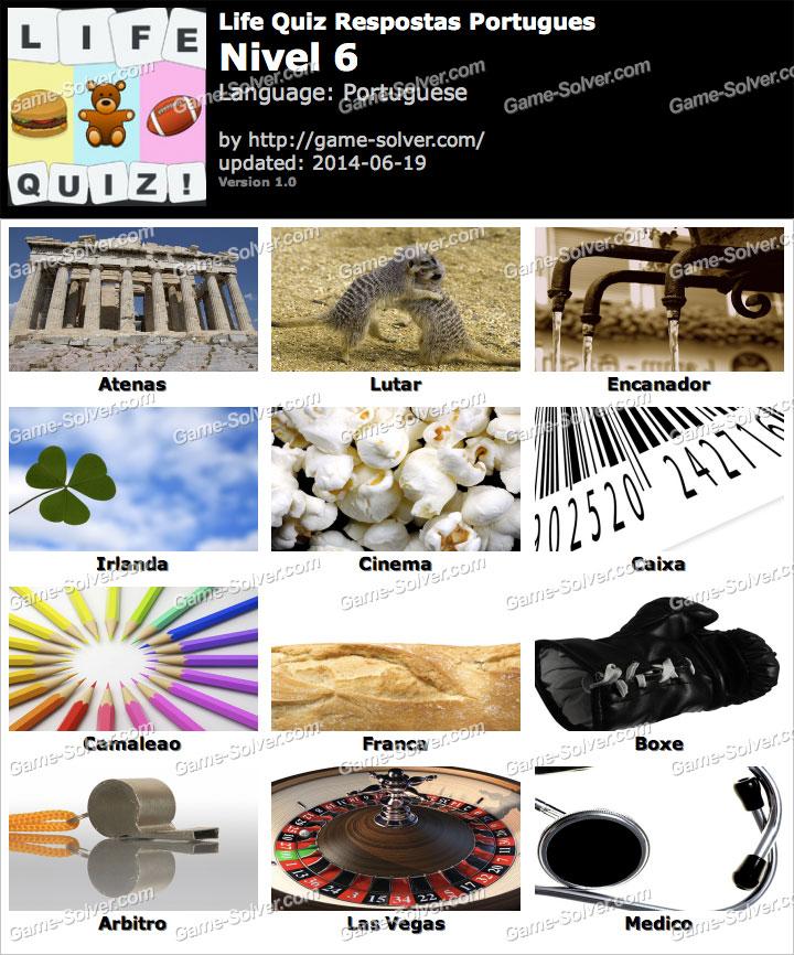 Life Quiz Portugues Nivel 6
