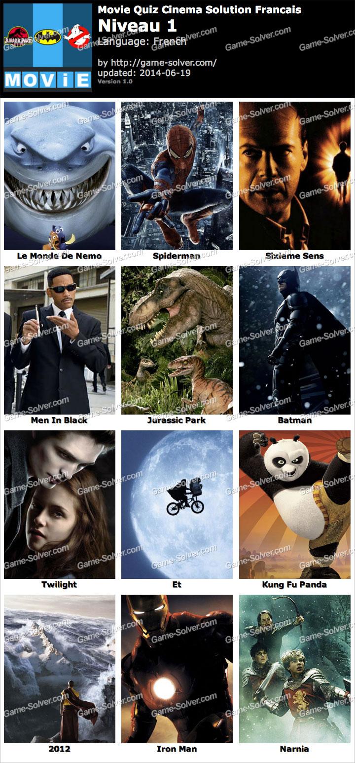 Movie Quiz Cinema Niveau 1