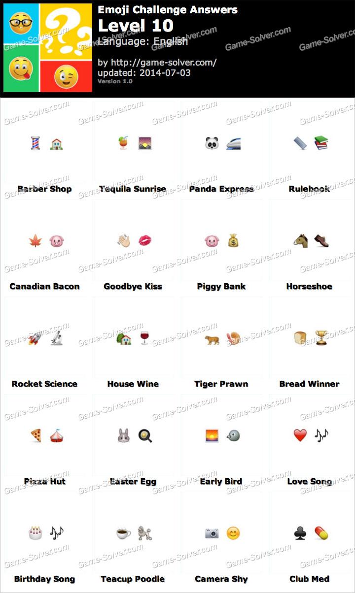Emoji Challenge Level 10 • Game Solver