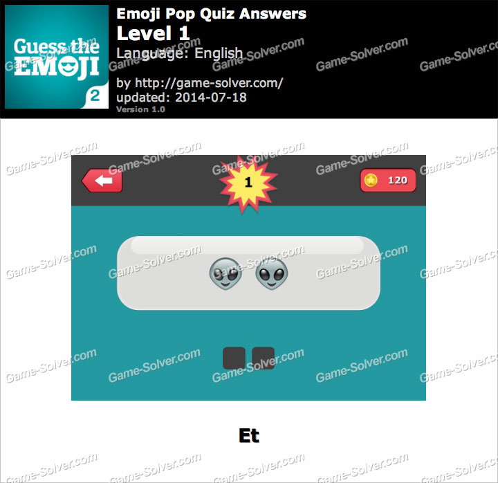 Emoji Pop Quiz Level 1