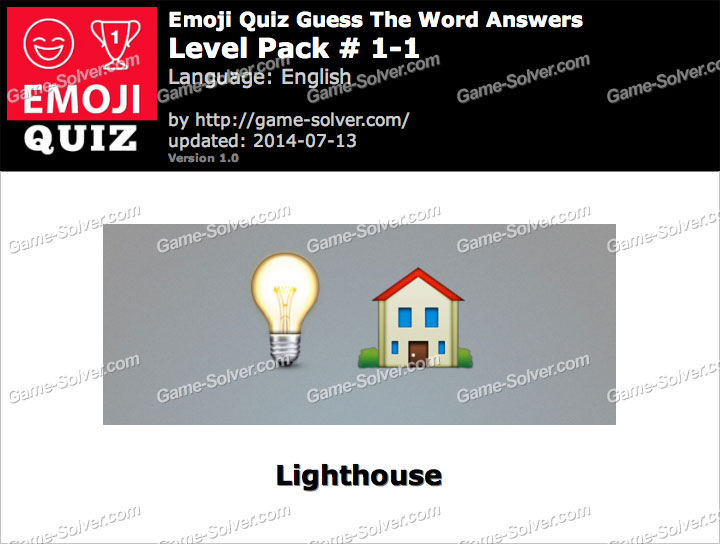Emoji Quiz Guess the Word Level Pack 1-1