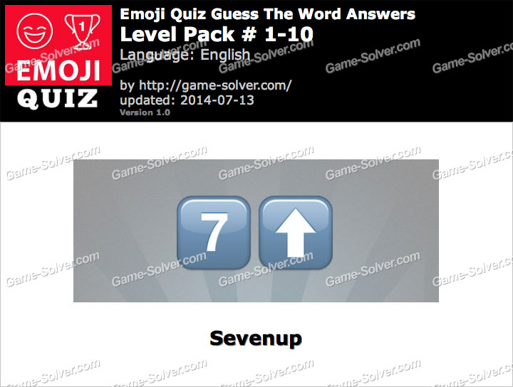 Emoji Quiz Guess the Word Level Pack 1-10