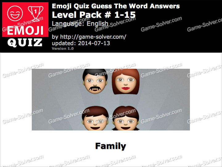 Emoji Quiz Guess the Word Level Pack 1-15