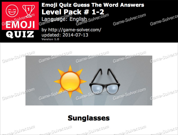 Emoji Quiz Guess the Word Level Pack 1-2