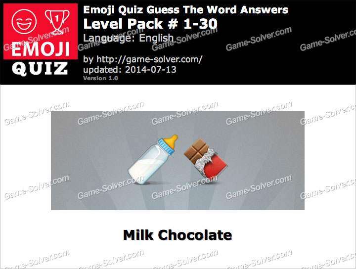 Emoji Quiz Guess the Word Level Pack 1-30
