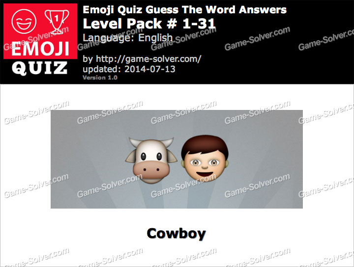 Emoji Quiz Guess the Word Level Pack 1-31