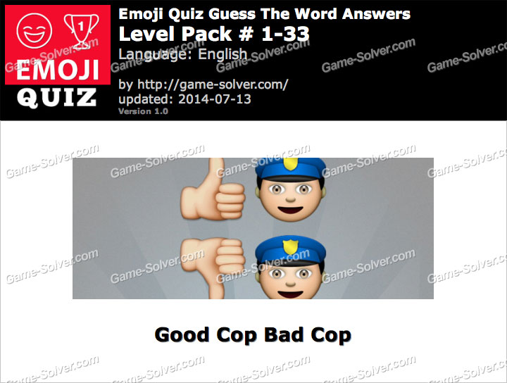 Emoji Quiz Guess the Word Level Pack 1-33