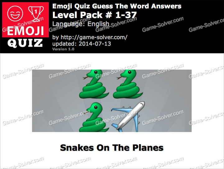 Emoji Quiz Guess the Word Level Pack 1-37