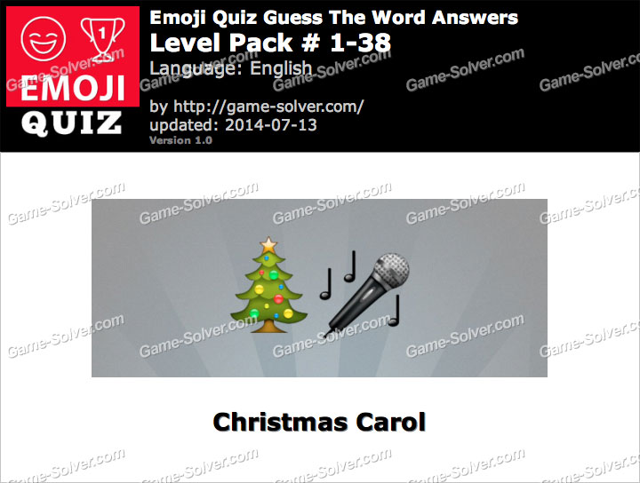 Emoji Quiz Guess the Word Level Pack 1-38