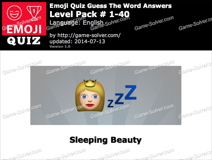 Emoji Quiz Guess the Word Level Pack 1-40