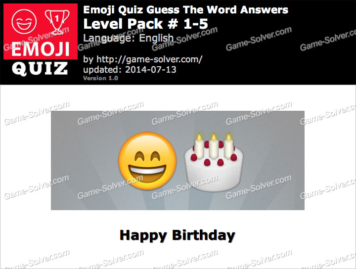 Emoji Quiz Guess the Word Level Pack 1-5