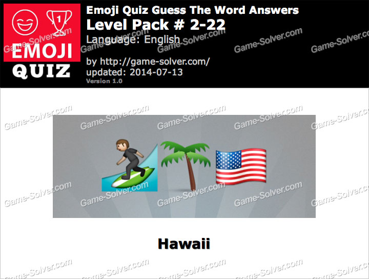 Emoji Quiz Guess the Word Level Pack 2-22