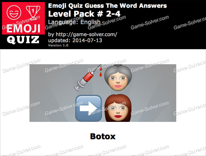 Emoji Quiz Guess the Word Level Pack 2-4