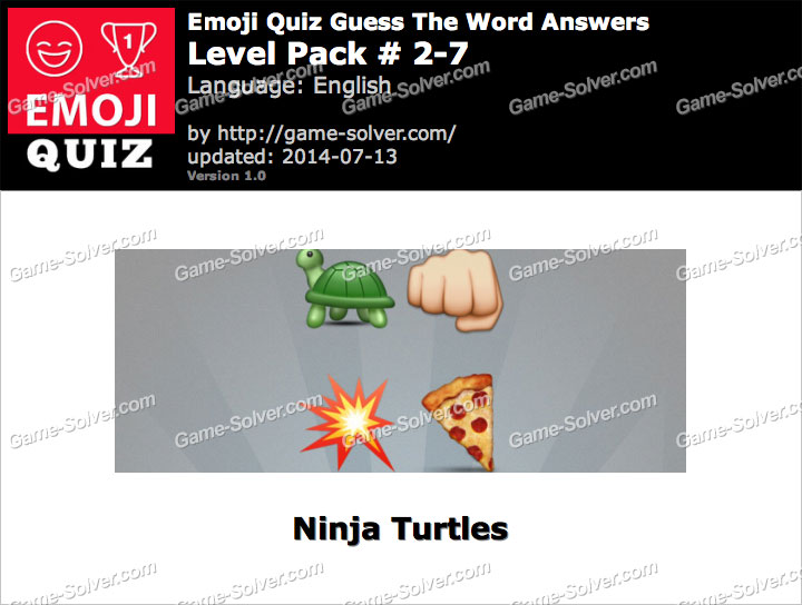 Emoji Quiz Guess the Word Level Pack 2-7