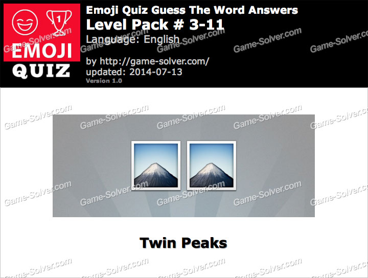 Emoji Quiz Guess the Word Level Pack 3-11