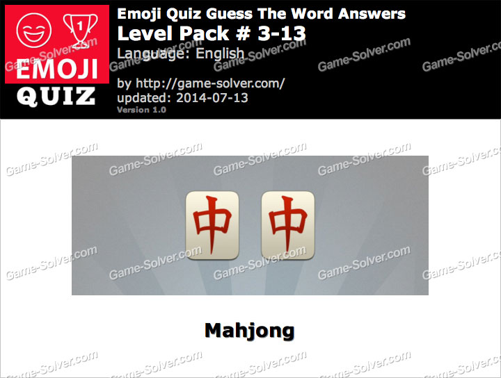 Emoji Quiz Guess the Word Level Pack 3-13