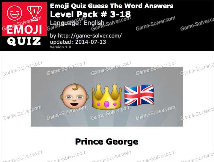 Emoji Quiz Guess the Word Level Pack 3-18