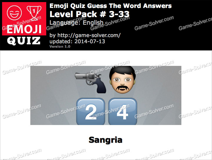 Emoji Quiz Guess the Word Level Pack 3-33
