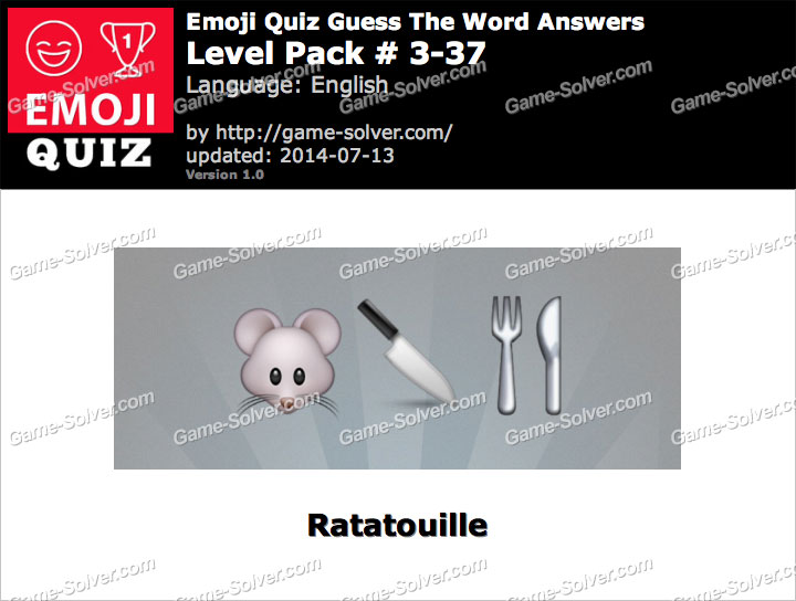 Emoji Quiz Guess the Word Level Pack 3-37