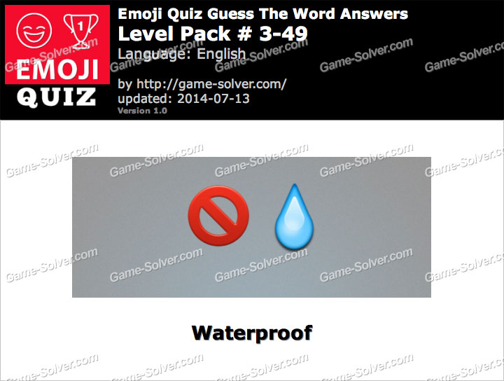 Emoji Quiz Guess the Word Level Pack 3-49