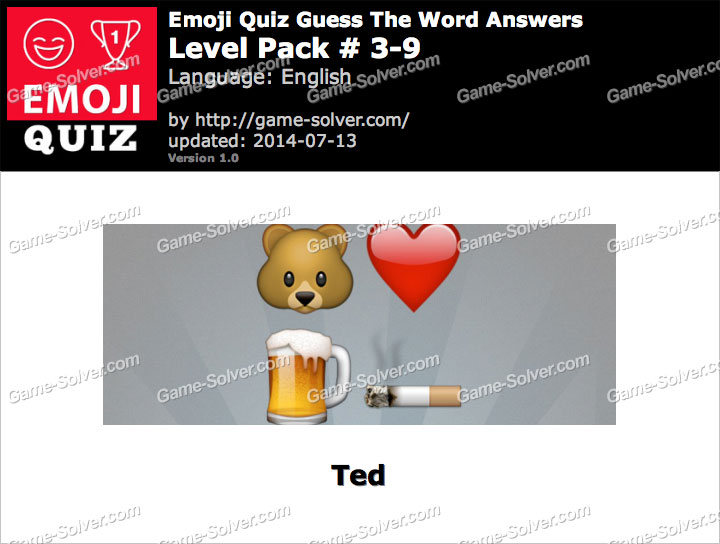 Emoji Quiz Guess the Word Level Pack 3-9