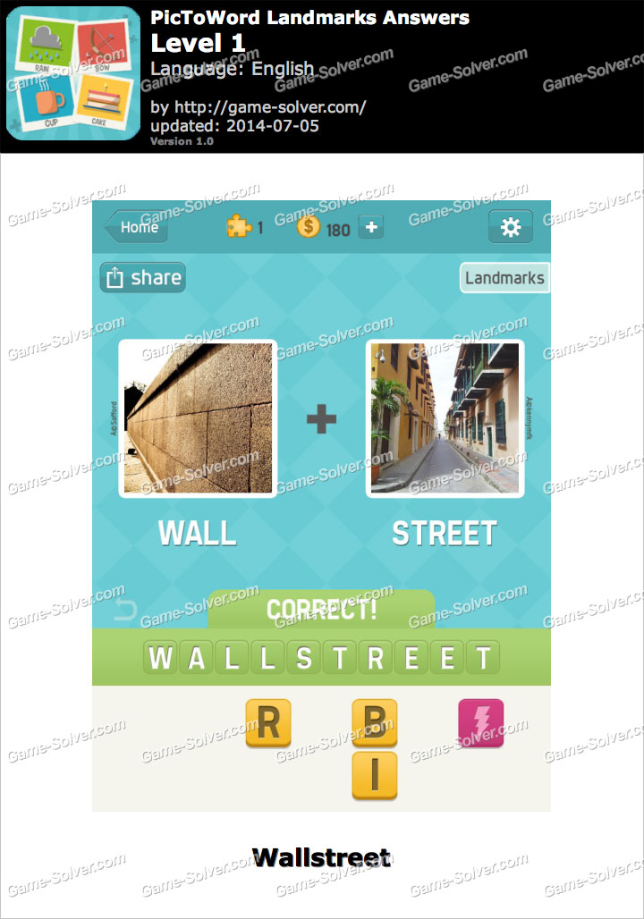 PicToWord Landmarks Level 1
