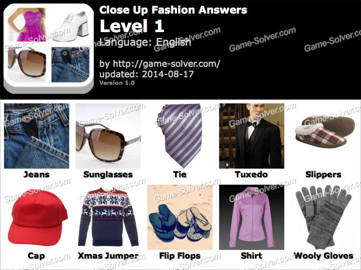 Close Up Fashion Level 1