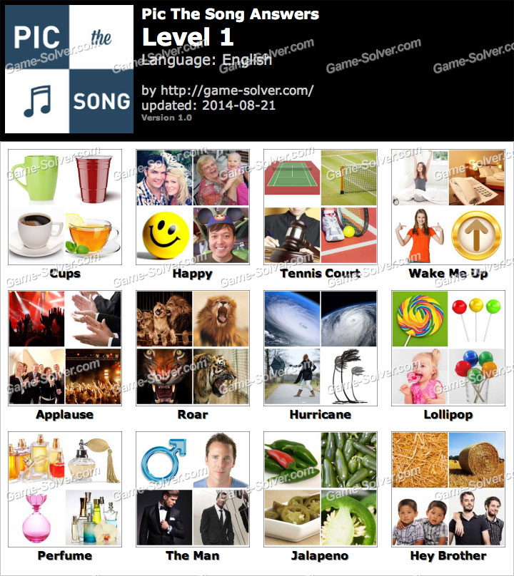 Pic the Song Level 1