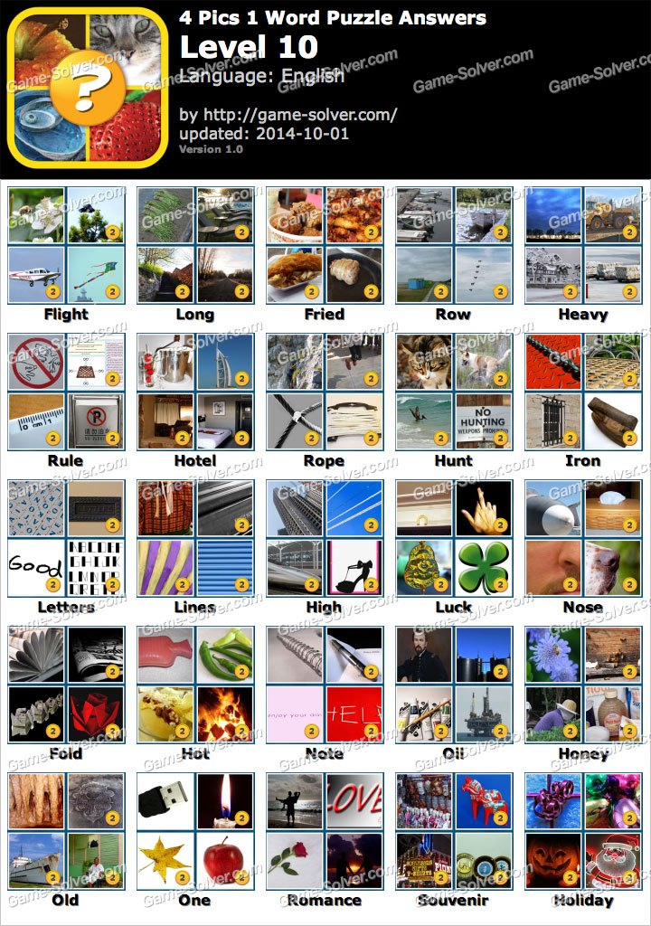 4 Pics 1 Word Puzzle Level 7 Game Solver