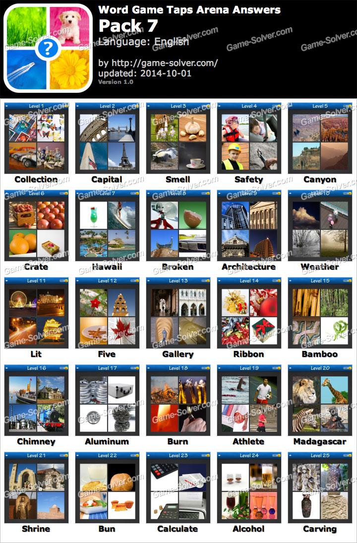 Word Game Taps Arena Pack 7
