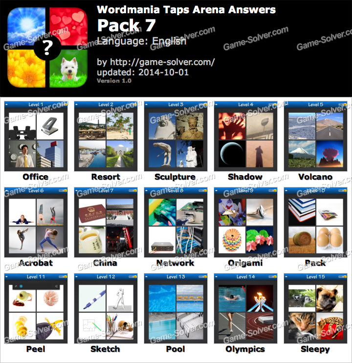 Wordmania Taps Arena Pack 1