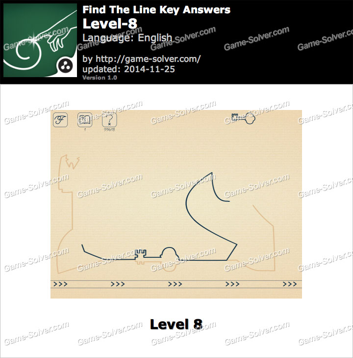 Find The Line Key Level 8
