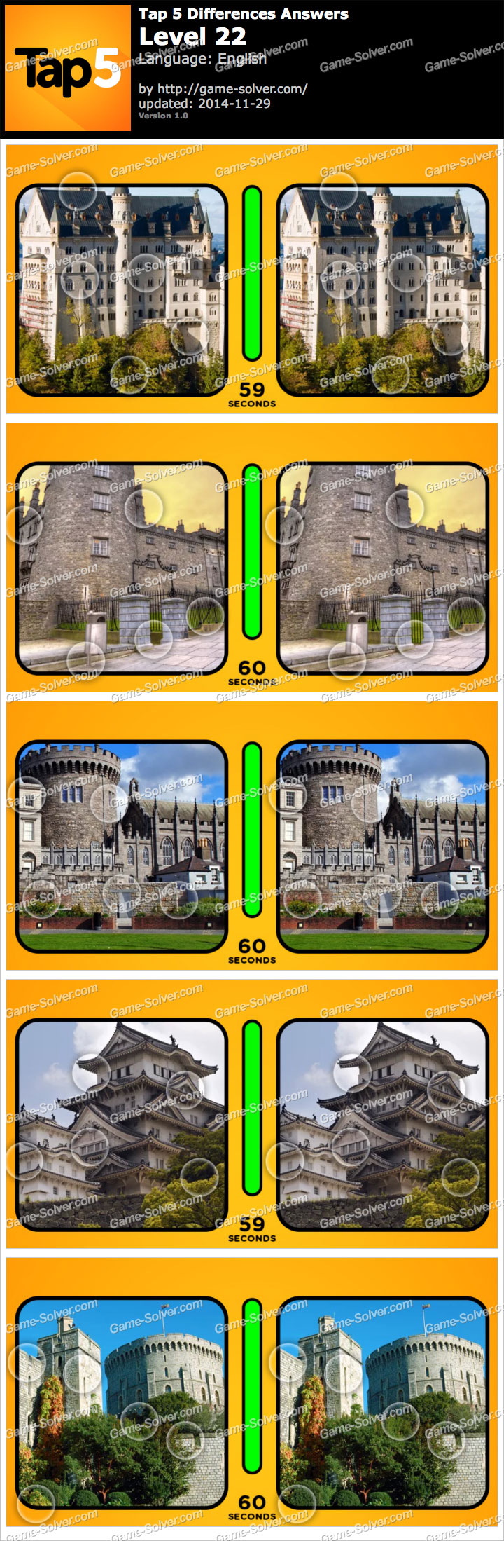 Tap 5 Differences Level 22